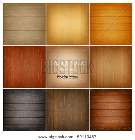 Set colorful abstract wooden texture.