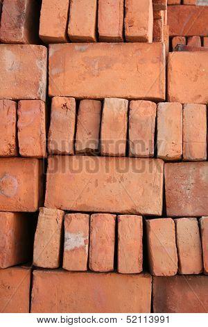 Stacked Adobe Bricks