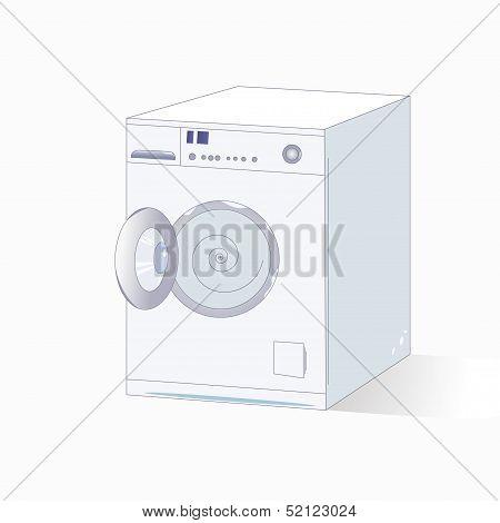 Grey Vector Washing Machine.