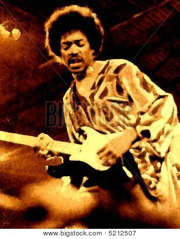 Jimi Hendrix Rendering