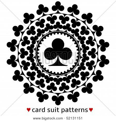 Club card suit pattern