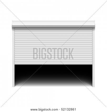 Roller shutter garage door. Vector.