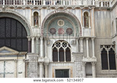 Part Of Facade Of San Marco Cathedral In Venice
