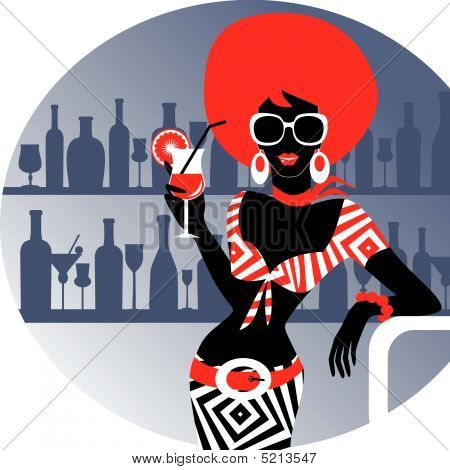 Party Girl With Cocktail