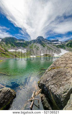 Fragment of Mount Baker trail in Washington, USA