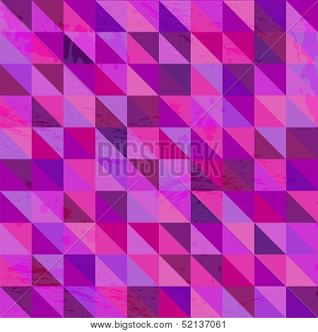 geometric pattern.background patterned with triangles.abstract background.grunge. vector poster