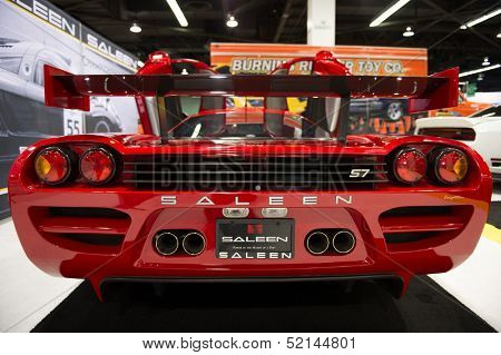 ANAHEIM, CA - OCTOBER 3: A Saleen S7 on display at the Orange County International Auto Show in Anaheim, CA on October 3, 2013.