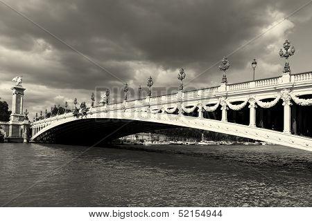 Alexander Iii Bridge, Paris, Ile De France, France