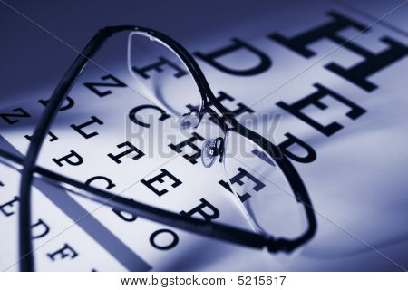 Glasses And Eye Test Chart Differential Focus
