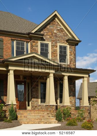 Luxury Model Home Exterior Column Entrance