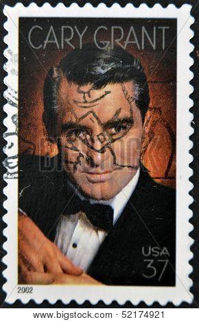 Usa - Circa 2002 : Stamp Printed In Usa Shows Cary Grant English-american Actor, Circa 2002