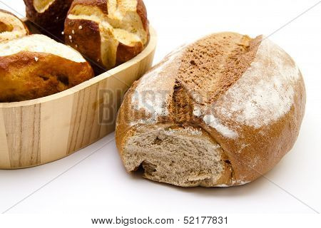 Crust bread with lyes bread roll