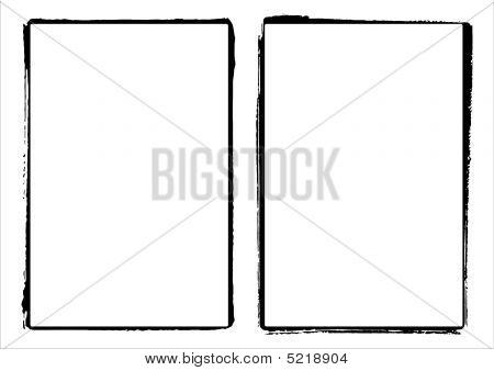 Two Vector Film Frame Edges / Borders