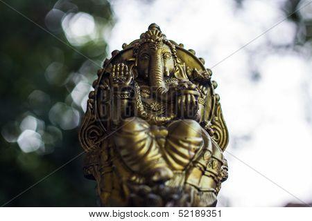 Ganesha Statue And Bokeh