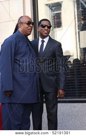 LOS ANGELES - OCT 10:  Stevie Wonder, Kenny