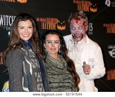 LOS ANGELES - OCT 10:  Ali Landry, Kyle Richards at the 8th Annual LA Haunted Hayride Premiere Night at Griffith Park on October 10, 2013 in Los Angeles, CA