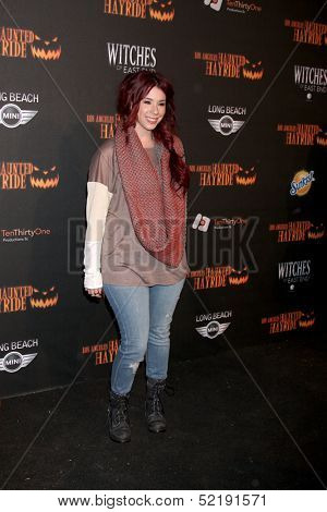 LOS ANGELES - OCT 10:  Jillian Rose Reed at the 8th Annual LA Haunted Hayride Premiere Night at Griffith Park on October 10, 2013 in Los Angeles, CA