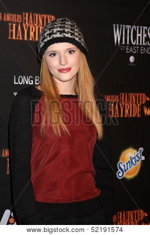 LOS ANGELES - OCT 10:  Bella Thorne at the 8th Annual LA Haunted Hayride Premiere Night at Griffith Park on October 10, 2013 in Los Angeles, CA