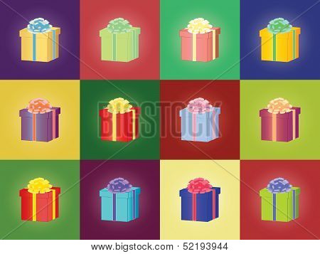 Pattern With Gift Boxes