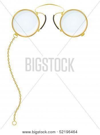 eyeglasses pince-nez vector illustration isolated on white background poster
