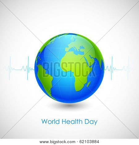 illustration of concept for World Health Day with lifline of Earth