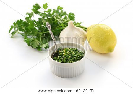 gremolata, italian chopped herb condiment