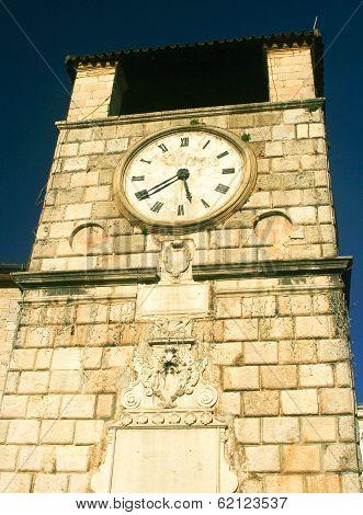 Historical town KOTOR at Boka Kotorska, Montenegro poster