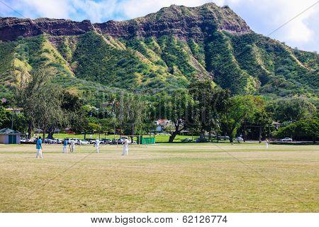 Cricket under Diamond Head