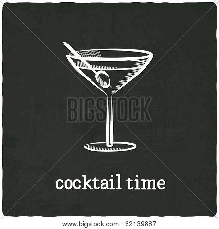 cocktail black old background
