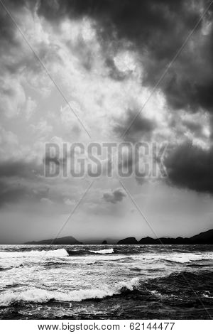 Dramatic Sea, Clouds, South End Of Kyushu, Japan
