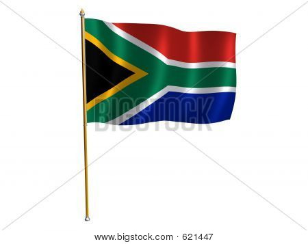 South Africa Silk Flag
