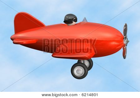 Airplane profile - isolated