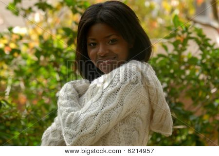 African-american Woman Smiling