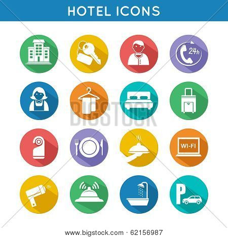 Hotel Travel Icons Set