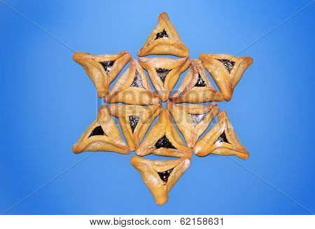 Hamantaschen Cookies, Jewish Holiday Of Purim