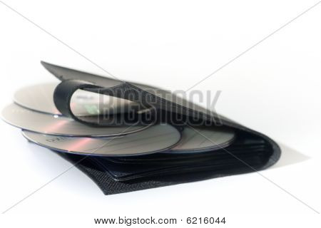 CD Case with blank media isolated on white