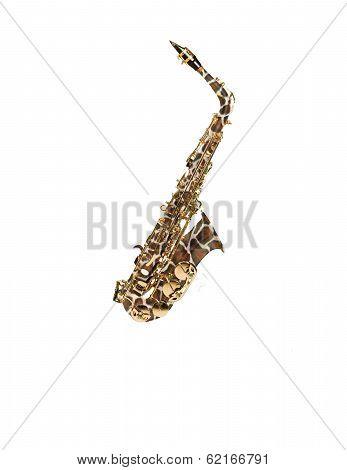 Wild Giraffe skin saxophone