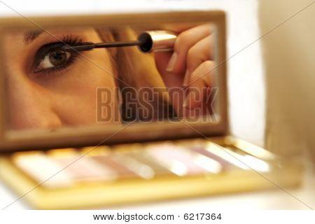 Beautiful Woman Making Her Make Up