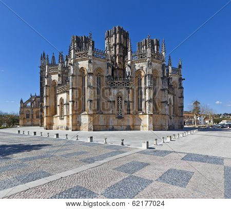 The Unfinished Chapels - Capelas Imperfeitas of the Batalha Monastery. Portugal. UNESCO World Heritage Site. poster