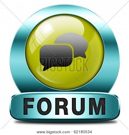 forum internet icon or button website www logon login and subscribe to participate in discussion