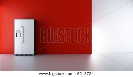 Refrigenerator To A Blank Wall