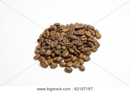 Heap Of Medium Roast Fresh Coffee Beans