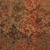 Abstract generated rust metal rough surface background poster