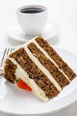 Delicious Dessert- a Piece of Carrot Cake poster