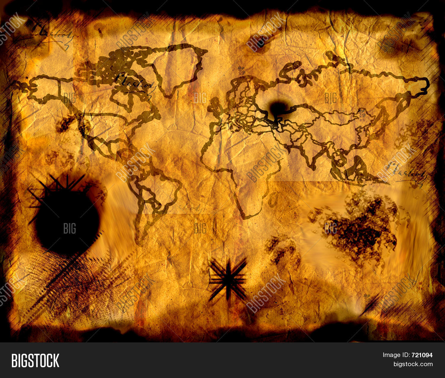 Pirate World Map.Pirate Old World Map Image Photo Free Trial Bigstock