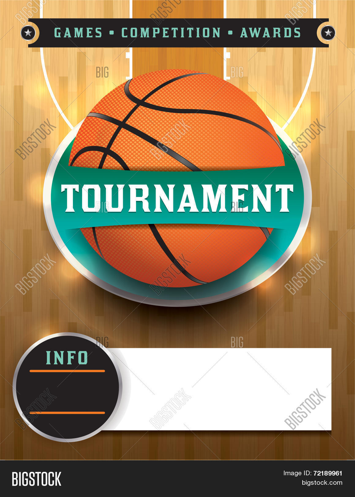 Basketball Tournament Template Vector & Photo | Bigstock