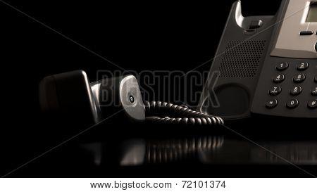 Telephone Handset Off The Hook