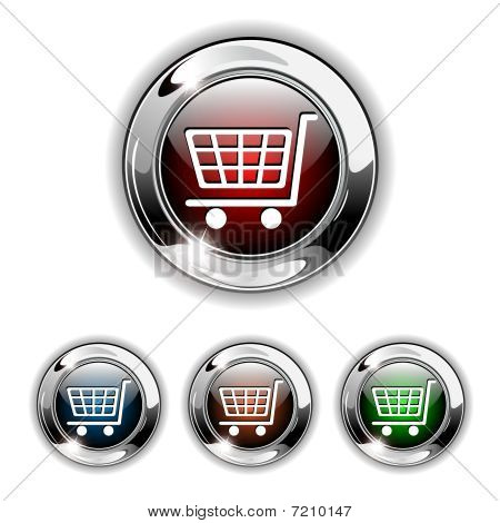 Buy icon, button, vector illustration.