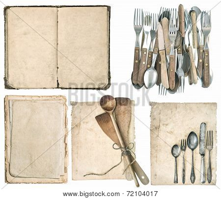 Kitchen Utensils, Old Cook Book, Antique Cutlery