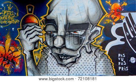 Street art Montreal tagger